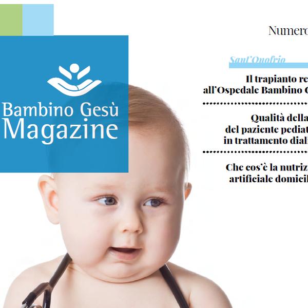 Il Dipartimento Pediatrie Specialistiche nel nuovo numero di OPBG Magazine