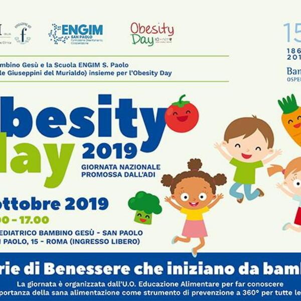 Obesity day, al Bambino Gesù consulenze gratuite e incontri con gli esperti per prevenire il sovrappeso