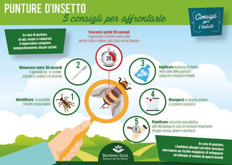 Allergia al veleno di insetti con pungiglione