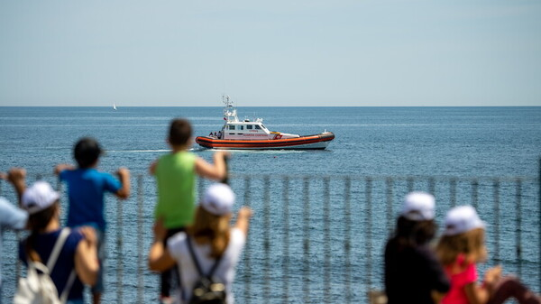 A Santa Marinella l'esercitazione della Guardia Costiera per i piccoli pazienti