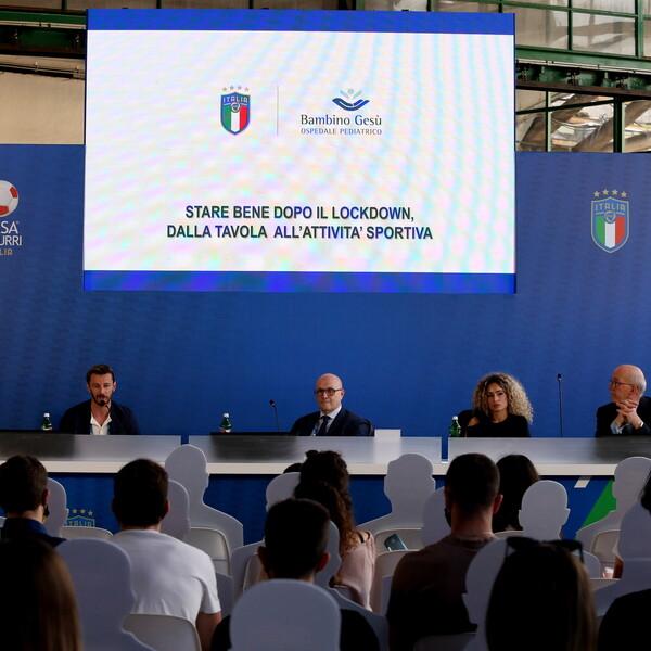 FIGC Bambino Gesù tavola sport effetti lockdown sui giovani